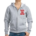 Hope for Japan 2011 Women's Zip Hoodie