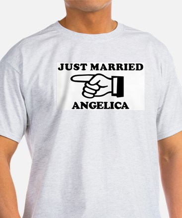 Just Married Angelica Ash Grey T-Shirt