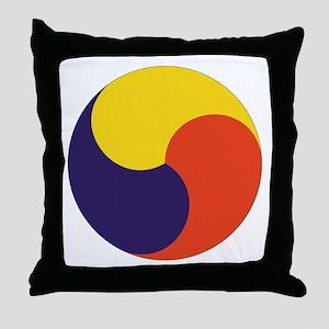 Sam Taegeuk Throw Pillow