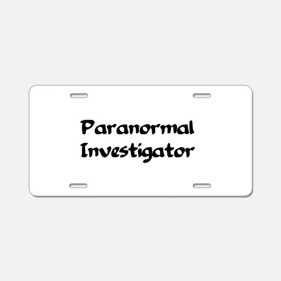 Cute Ghost hunting Aluminum License Plate
