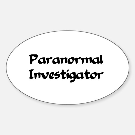 Unique Paranormal Sticker (Oval)