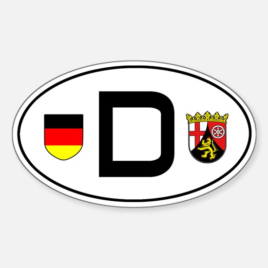 Germany car sticker (Rheinland-Pfalz variant)