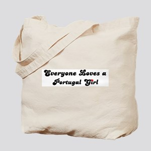 Loves Portugal Girl Tote Bag