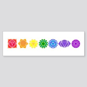 The Chakras Bumper Sticker