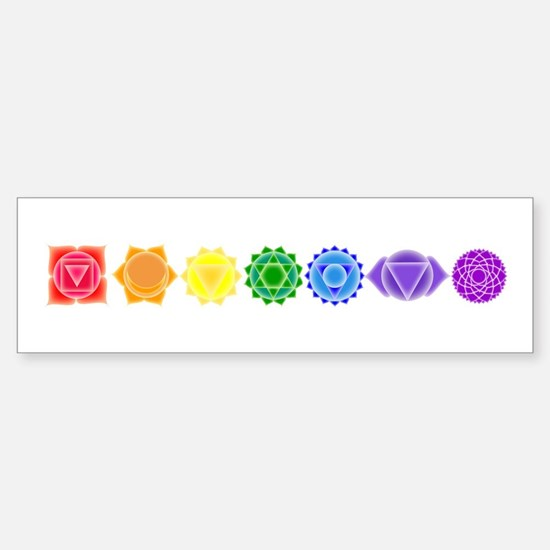 The Chakras Bumper Bumper Bumper Sticker