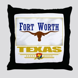Fort Worth Pride Throw Pillow