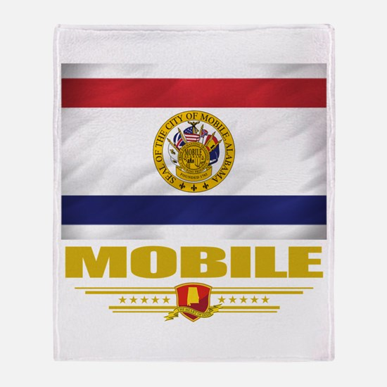 Mobile Pride Throw Blanket