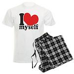 I LOVE Myself Men's Light Pajamas