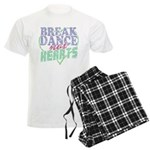 Break Dance not Hearts Men's Light Pajamas