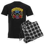 Hippie Musician Men's Dark Pajamas