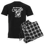 Blown in Chicago Men's Dark Pajamas