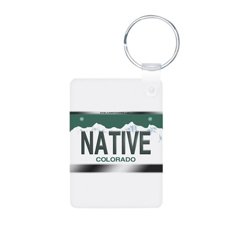 """NATIVE"" Colorado License Plate Aluminum Photo Key"