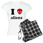 I Love Aliens Women's Light Pajamas