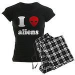 I Love Aliens Women's Dark Pajamas