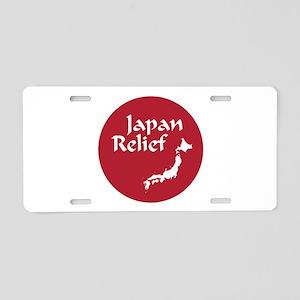 Japan Relief Aluminum License Plate