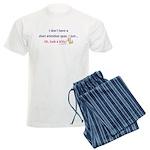 Short Attention Span Kitty Men's Light Pajamas