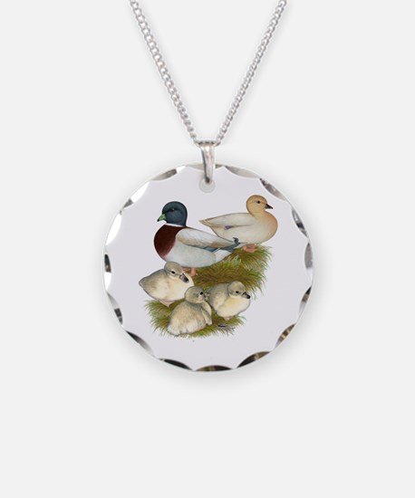 Pastel Call Duck Family Necklace