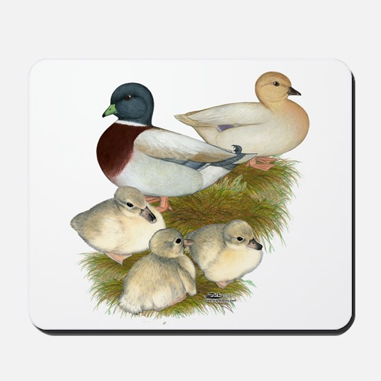 Pastel Call Duck Family Mousepad