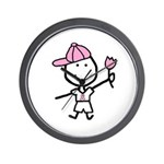 Boy & Pink Ribbon Wall Clock