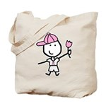 Boy & Pink Ribbon Tote Bag