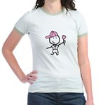 Boy & Pink Ribbon Jr. Ringer T-Shirt