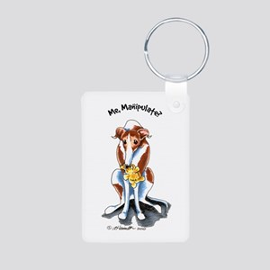 Greyhound Funny Aluminum Photo Keychain