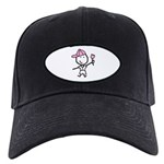 Boy & Pink Ribbon Black Cap