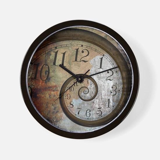 Spiral Face Wall Clock