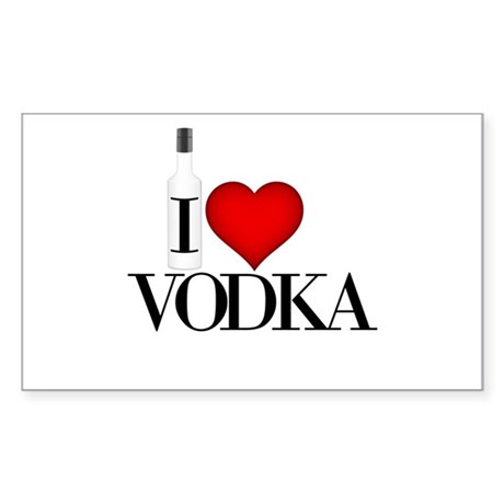 I Heart Vodka Sticker (Rectangle)
