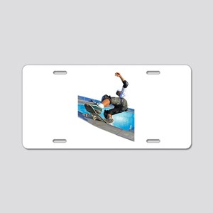 Pool Skate Aluminum License Plate