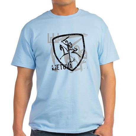 Distressed Vytis and Lietuva Light T-Shirt