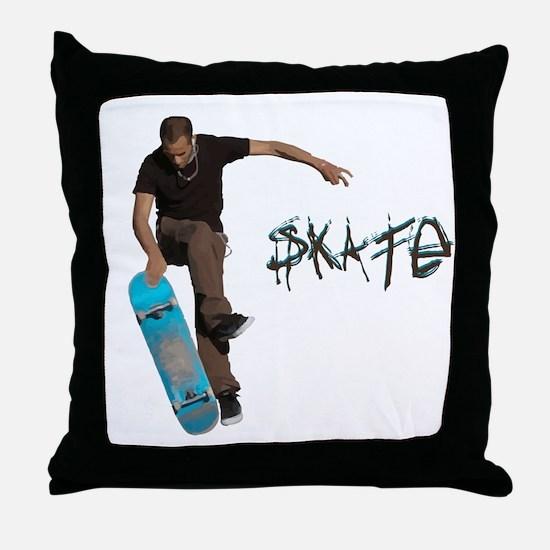 Skate Fakie Throw Pillow
