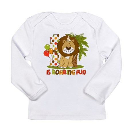 Cute Lion 1st Birthday Long Sleeve Infant T-Shirt