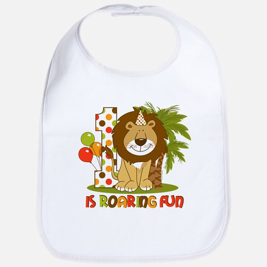 Cute Lion 1st Birthday Bib