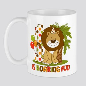 Cute Lion 1st Birthday Mug