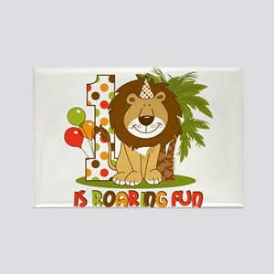 Cute Lion 1st Birthday Rectangle Magnet
