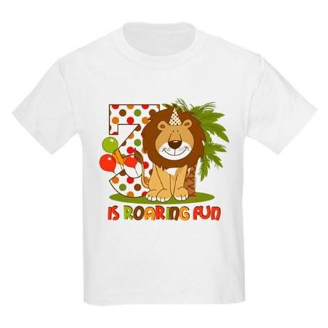 Cute Lion 3rd Birthday Kids Light T-Shirt