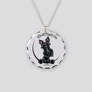 Black Scottie IAAM Necklace Circle Charm