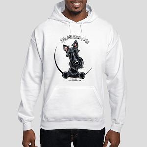 Black Scottie IAAM Hooded Sweatshirt