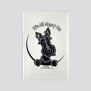 Black Scottie IAAM Rectangle Magnet