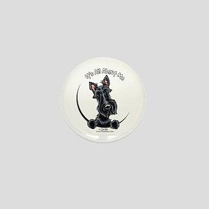 Black Scottie IAAM Mini Button