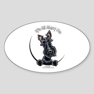 Black Scottie IAAM Sticker (Oval)