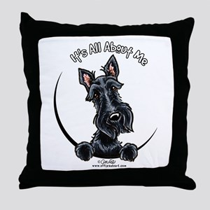 Black Scottie IAAM Throw Pillow