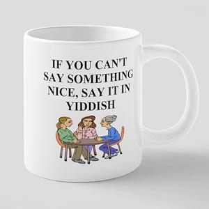 funny jewish joke yiddish p 20 oz Ceramic Mega Mug