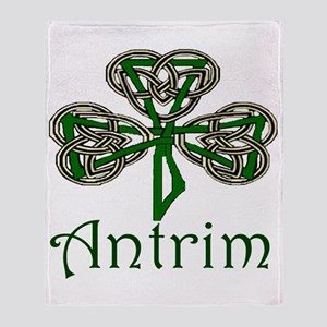 Antrim Shamrock Throw Blanket