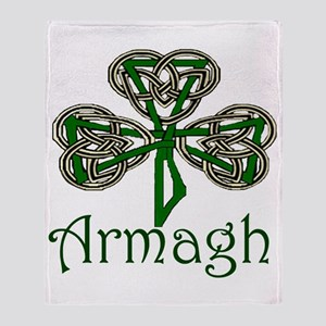 Armagh Shamrock Throw Blanket