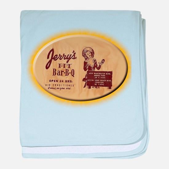 Jerry's Pit Bar-B-Q baby blanket