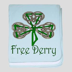 Free Derry Shamrock baby blanket