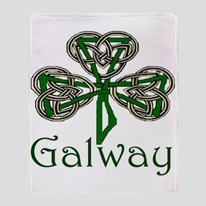 Galway Shamrock Throw Blanket