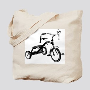 Retro Black Tricycle Tote Bag